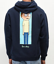 Primitive x Rick and Morty Morty Vortex Navy Hoodie