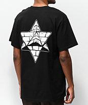Pyramid Country Glogo camiseta negra con bolsillo
