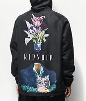 RIPNDIP Lights Out chaqueta entrenador con capucha negra