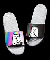 RIPNDIP Lord Nermal sandalias iridiscentes grises