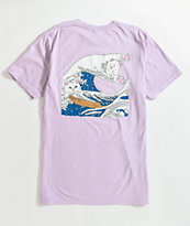 RIPNDIP The Great Wave Of Nerm Lavender T-Shirt
