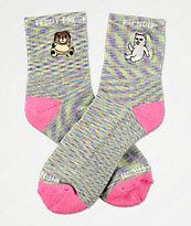 RIPNDIP x Teddy Fresh calcetines de lavanda y rosa moteado