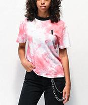 Ragged Jeans camiseta de tie dye rosa