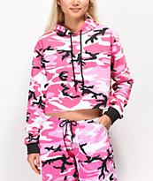 Rothco Pink Camo Crop Hoodie