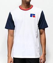 Russel Athletic Brewton camiseta blanca y azul
