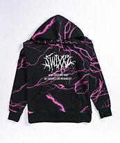 SWIXXZ Lightning Black & Pink Hoodie