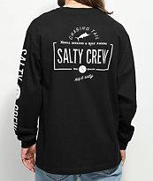 Salty Crew Seeker camiseta de manga larga negra y blanca