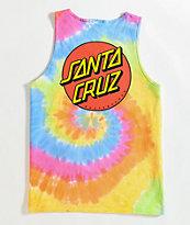 Santa Cruz Classic Dot Tie Dye Tank Top