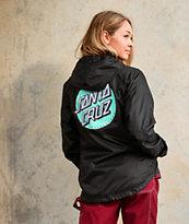 Santa Cruz Mint Other Dot Black Windbreaker Jacket