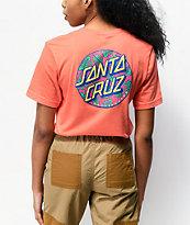Santa Cruz Monstera Dot Coral T-Shirt