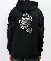Santa Cruz Screaming Skull sudadera con capucha negra