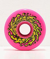 Santa Cruz Slime Balls 66mm ruedas de cruiser rosa neón