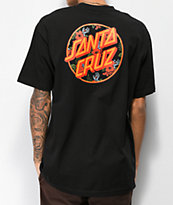 Santa Cruz Vacation Dot camiseta negra