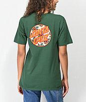 Santa Cruz Vacation Dot camiseta verde