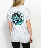 Santa Cruz Wave Dot Spider camiseta tie dye gris
