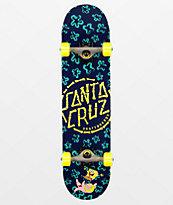 "Santa Cruz x SpongeBob SquarePants Floral Coral 7.75"" Skateboard Complete"