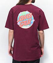 Santa Cruz x SpongeBob SquarePants Jellyfishing Burgundy T-Shirt