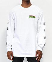 Santa Cruz x TMNT Mutagen White Long Sleeve T-Shirt