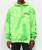Santa Cruz x TMNT Mutagen sudadera con capucha tie dye verde lima