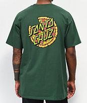 Santa Cruz x TMNT Pizza Dot Forest Green T-Shirt