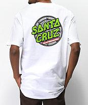 Santa Cruz x TMNT Sewer Dot White T-Shirt
