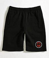 Spitfire Bighead Black Sweat Shorts
