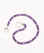 Stone + Locket Purple Matte Wallet Chain