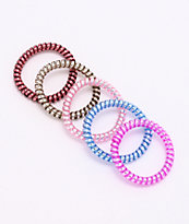 Stone + Locket Tight Coil 5 Pack Hair Ties