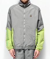 Teddy Fresh Grey & Green Nylon Track Jacket