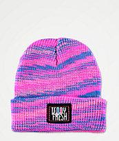 Teddy Fresh Spacedye Pink & Blue Beanie