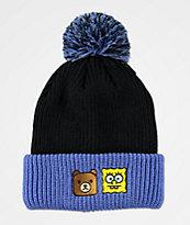 Teddy Fresh x SpongeBob SquarePants Black & Blue Pom Beanie