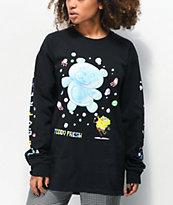 Teddy Fresh x SpongeBob SquarePants Bubbles Black Long Sleeve T-Shirt