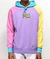 Teddy Fresh x SpongeBob SquarePants Colorblock Purple Hoodie