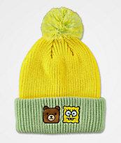 Teddy Fresh x SpongeBob SquarePants Yellow & Green Pom Beanie