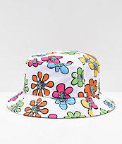Teenage Bored Skies sombrero de cubo blanco