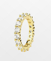The Gold Gods Single Eternity anillo de oro amarillo