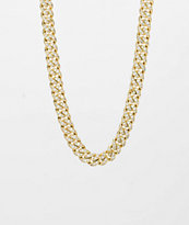 The Gold Gods collar de cadena cubana con diamantes