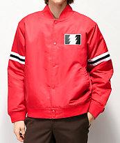 The Hundreds Ender Red Varsity Jacket