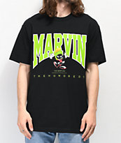 The Hundreds x Marvin The Martian Flag camiseta negra