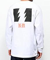 The Hundreds x Never Made Heads camiseta blanca de manga larga
