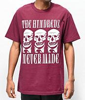The Hundreds x Never Made Skull camiseta borgoña