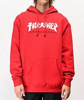 Thrasher Godzilla Red Hoodie