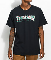 Thrasher Roses camiseta negra