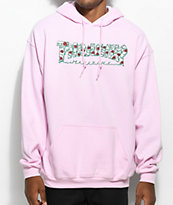 Thrasher Roses sudadera rosa con capucha