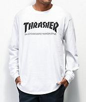Thrasher Skate Mag camiseta manga larga blanca