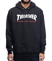 Thrasher Two Tone Black Hoodie