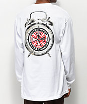 Thrasher x Independent Time To Go White Long Sleeve T-Shirt