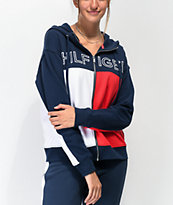 Tommy Hilfiger sudadera con capucha roja, blanca y azul