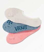 Vans Canoodle paquete de 3 calcetines invisibles jaspeados