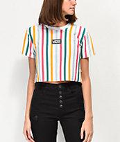 Vans Front Row camiseta corta de rayas verticales